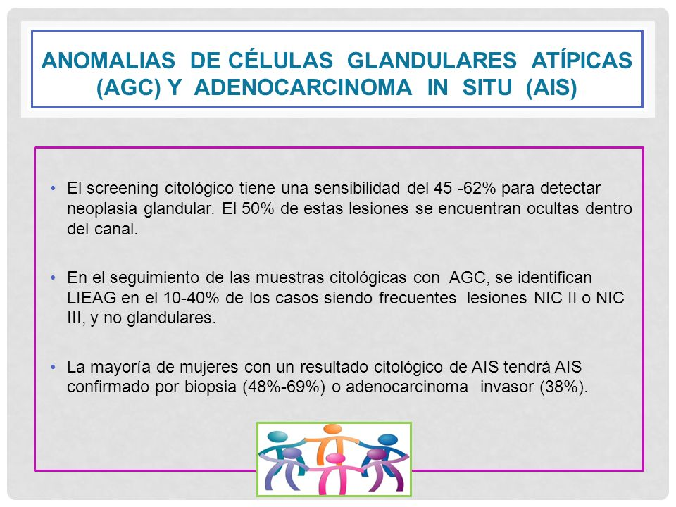 ANOMALIAS DE CÉLULAS GLANDULARES ATÍPICAS (AGC) Y ADENOCARCINOMA IN SITU (AIS)