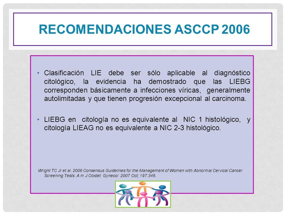 RECOMENDACIONES ASCCP 2006