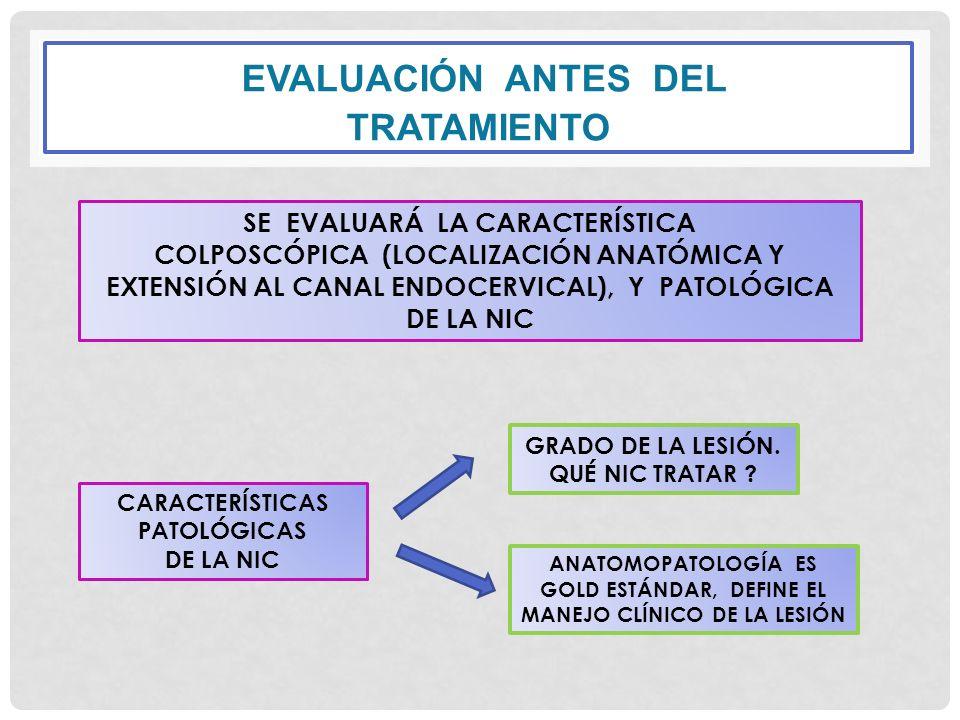 EVALUACIÓN ANTES DEL TRATAMIENTO