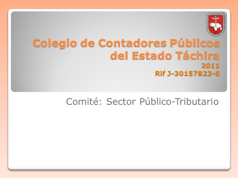 Boletin informativo 2011-001 Comité: Sector Público-Tributario