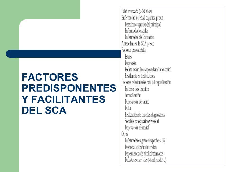FACTORES PREDISPONENTES Y FACILITANTES DEL SCA