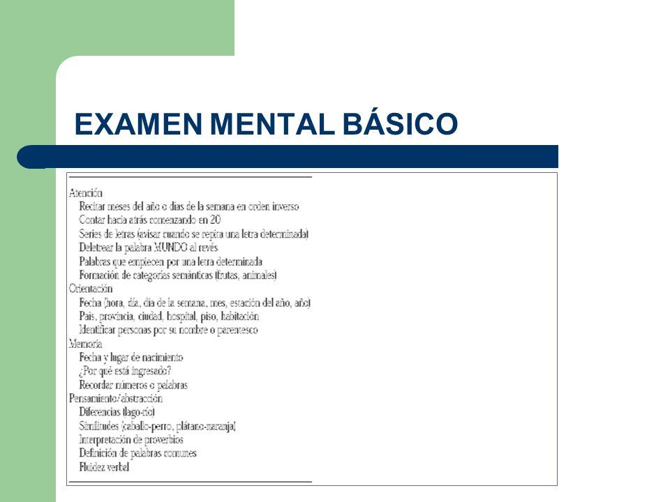 EXAMEN MENTAL BÁSICO