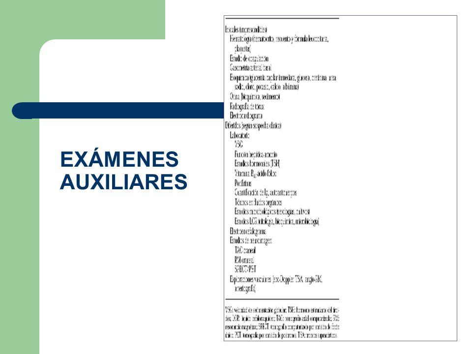 EXÁMENES AUXILIARES
