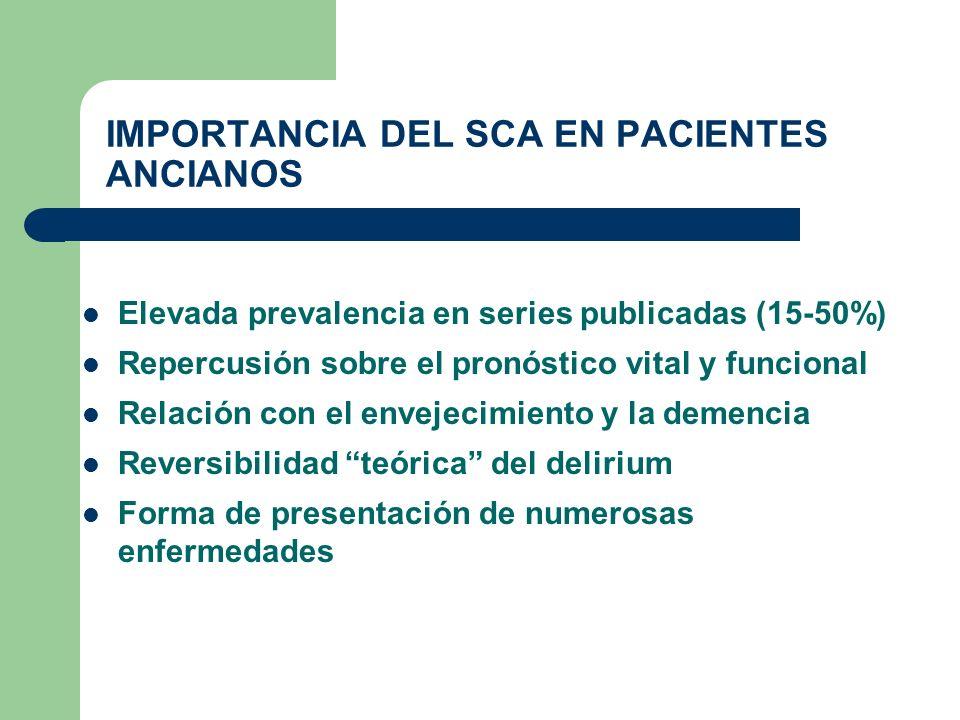 IMPORTANCIA DEL SCA EN PACIENTES ANCIANOS