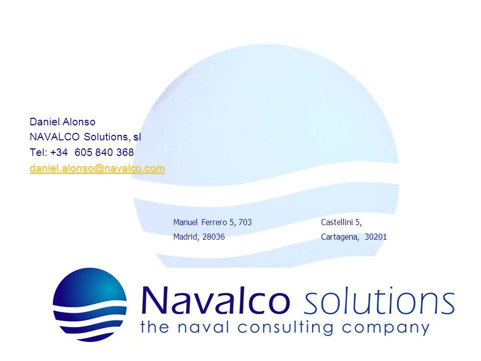 Daniel Alonso NAVALCO Solutions, sl Tel: +34 605 840 368