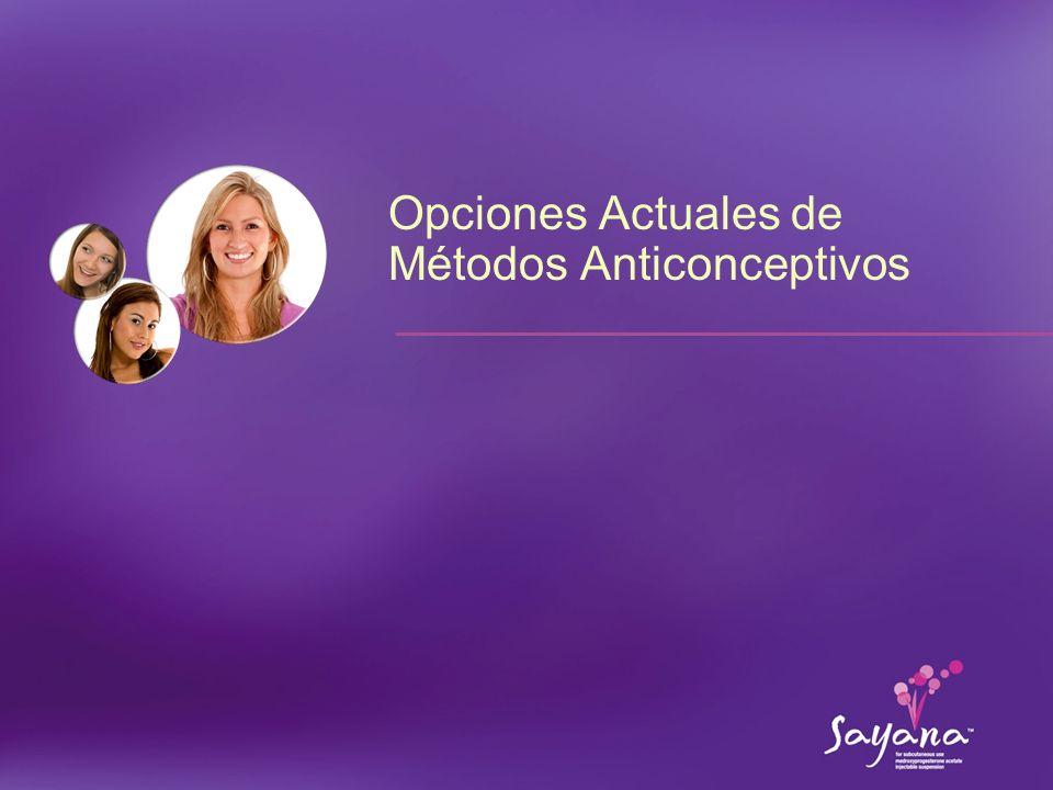 Opciones Actuales de Métodos Anticonceptivos