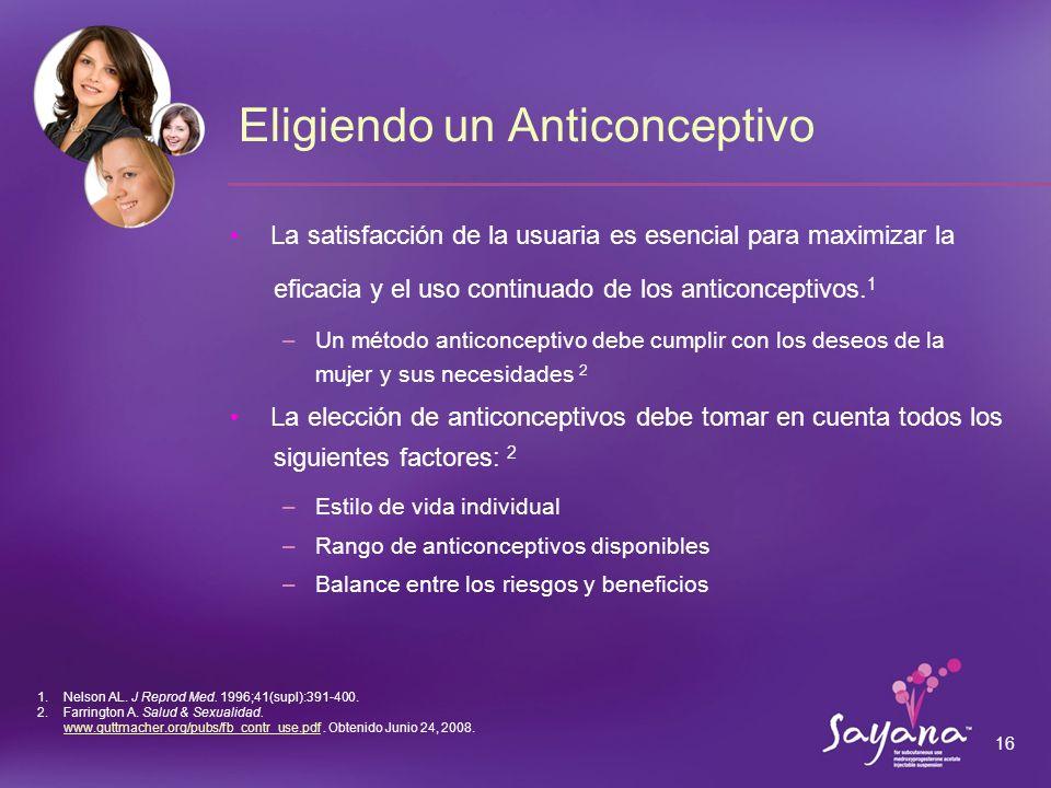 Eligiendo un Anticonceptivo