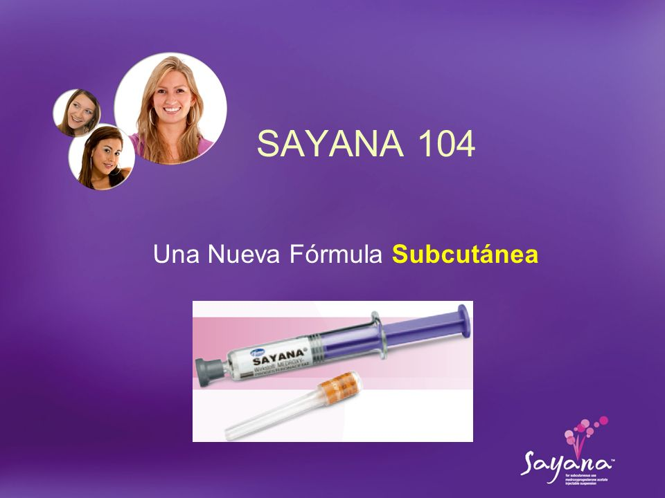 PFZ TAR 145 Sayana Slide Version 39 Una Nueva Fórmula Subcutánea