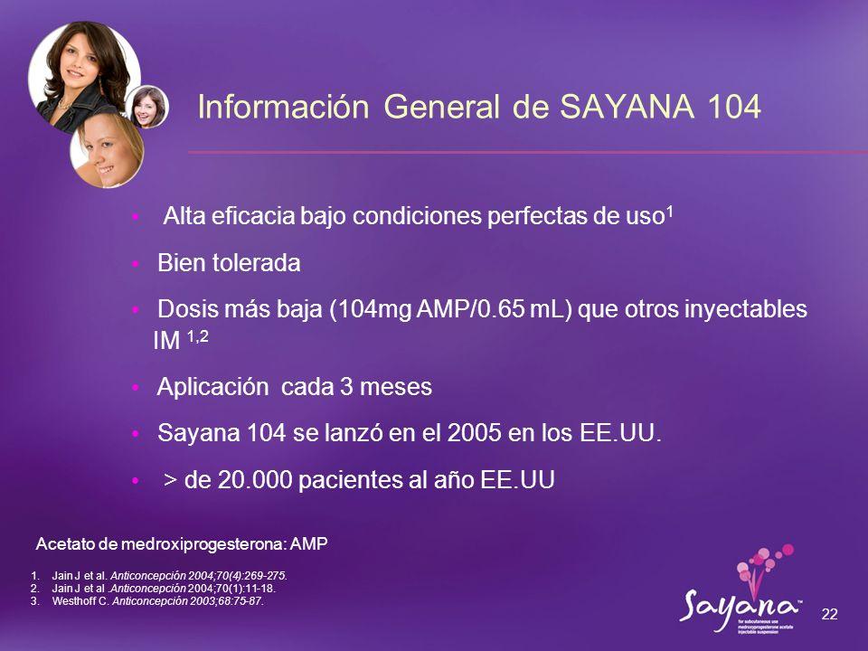 Información General de SAYANA 104