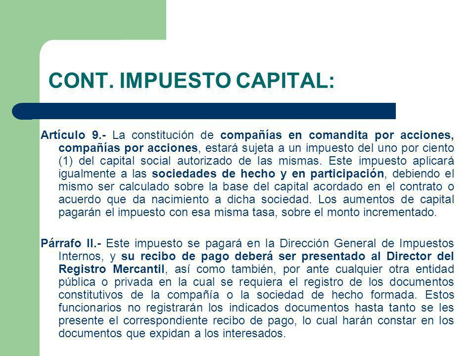 CONT. IMPUESTO CAPITAL: