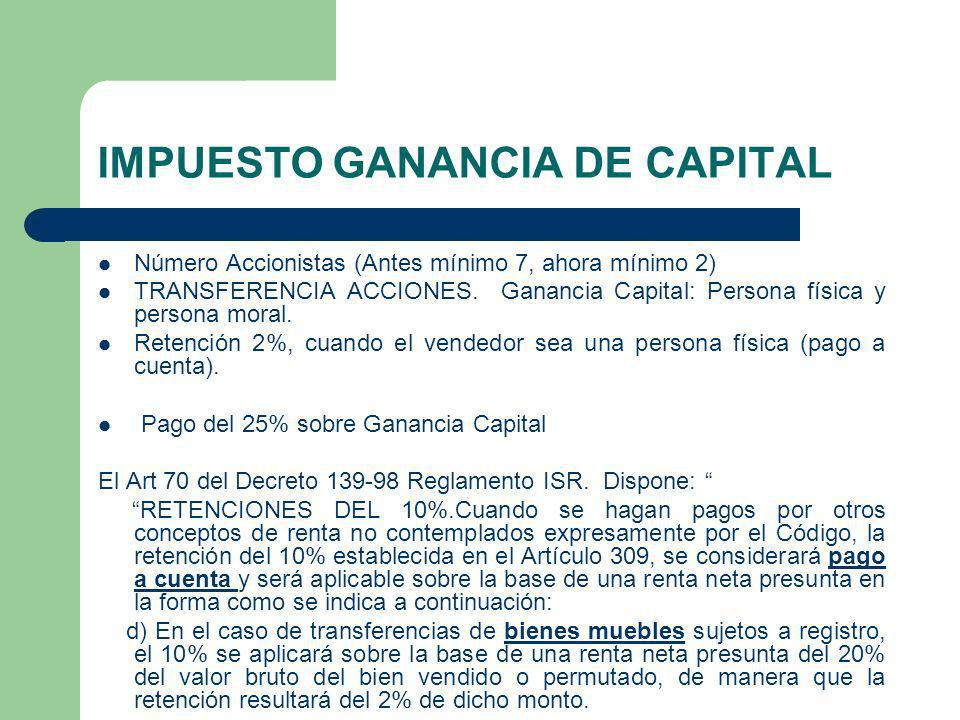 IMPUESTO GANANCIA DE CAPITAL