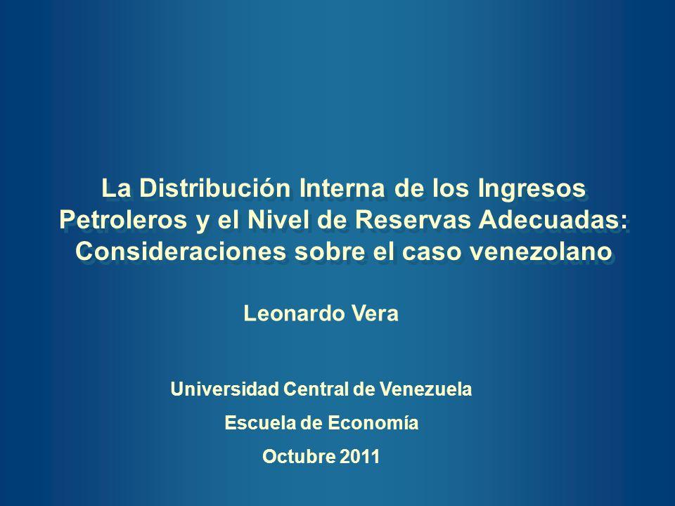 Consideraciones sobre el caso venezolano