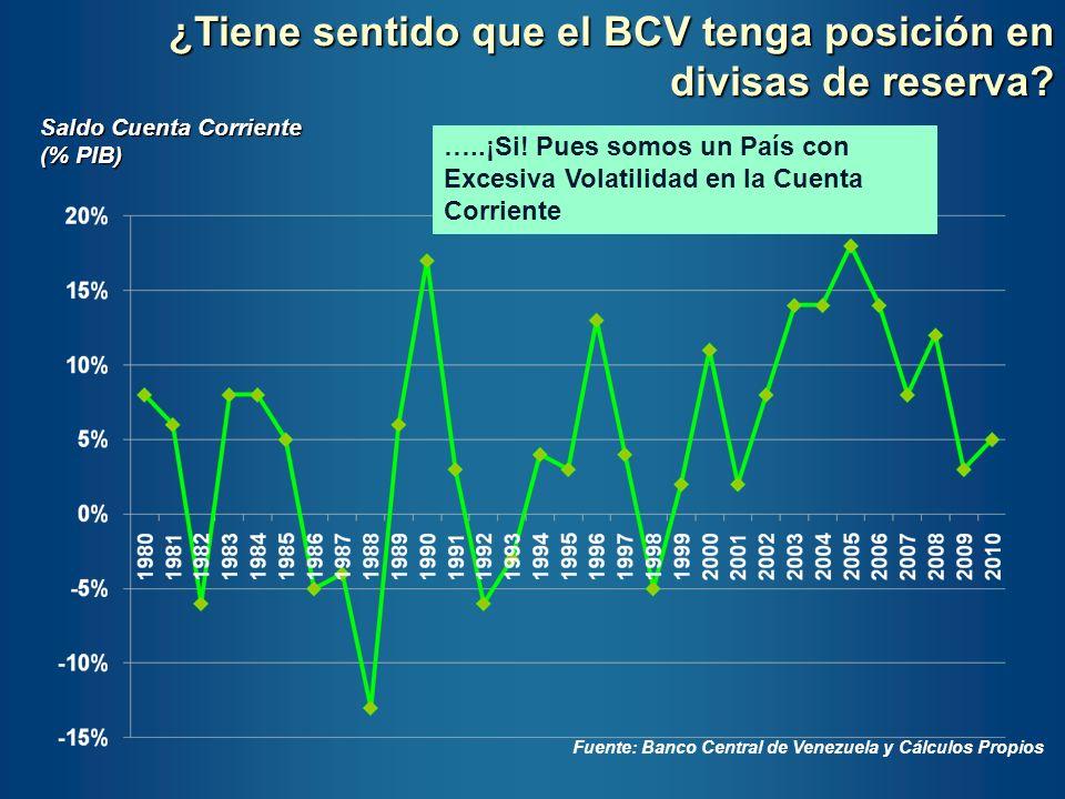 ¿Tiene sentido que el BCV tenga posición en divisas de reserva