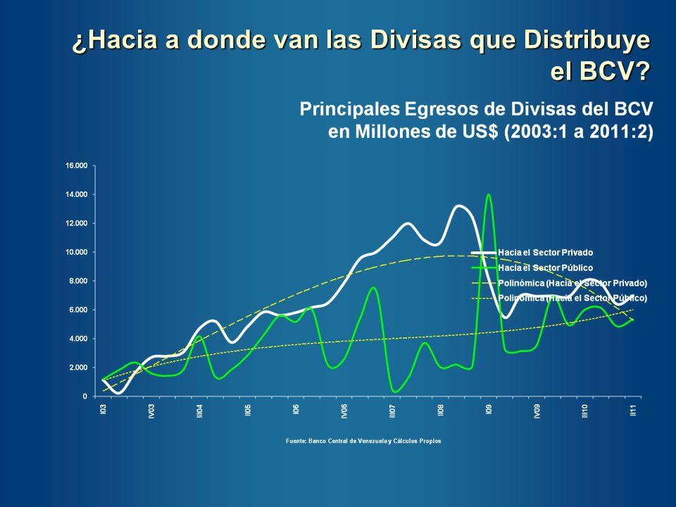 ¿Hacia a donde van las Divisas que Distribuye el BCV