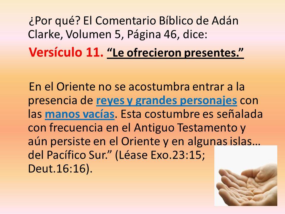 ¿Por qué El Comentario Bíblico de Adán Clarke, Volumen 5, Página 46, dice: