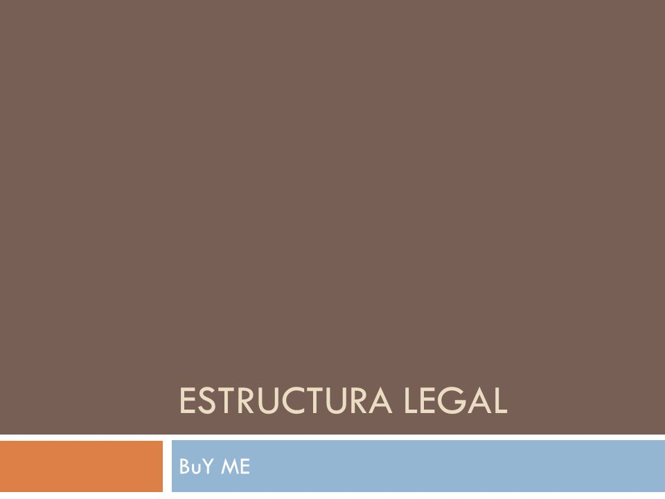 Estructura legal BuY ME