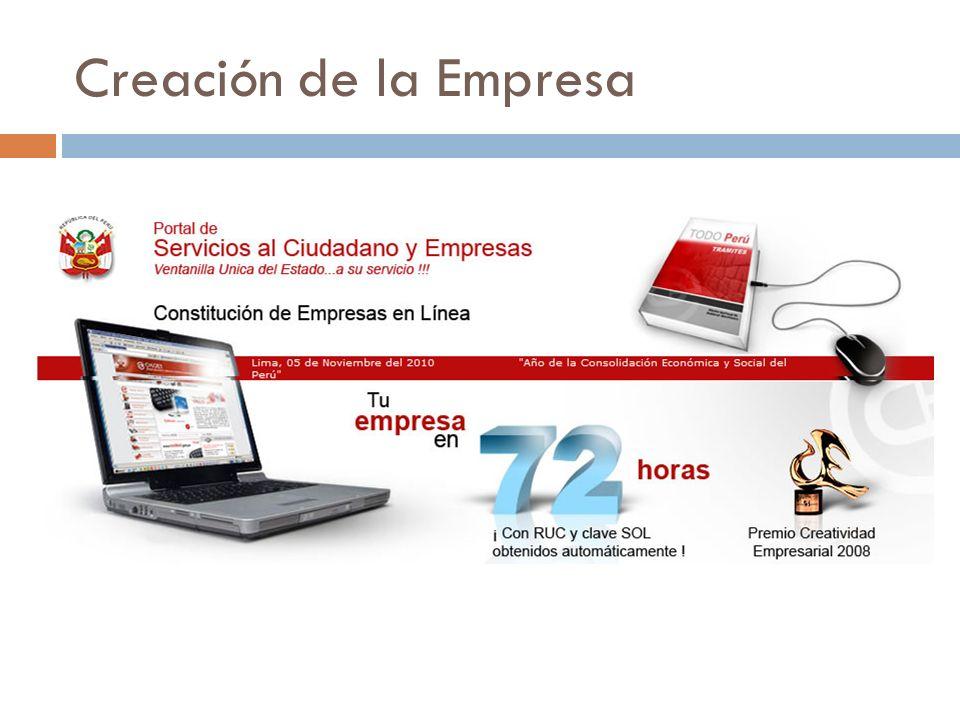 Creación de la Empresa