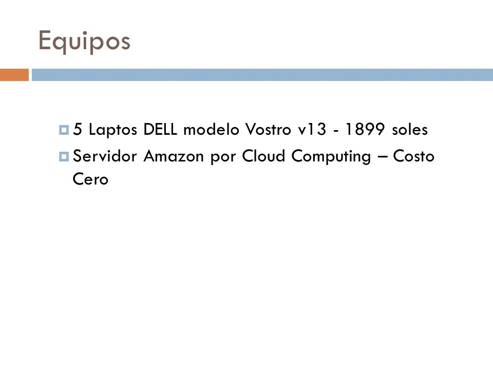 Equipos 5 Laptos DELL modelo Vostro v13 - 1899 soles