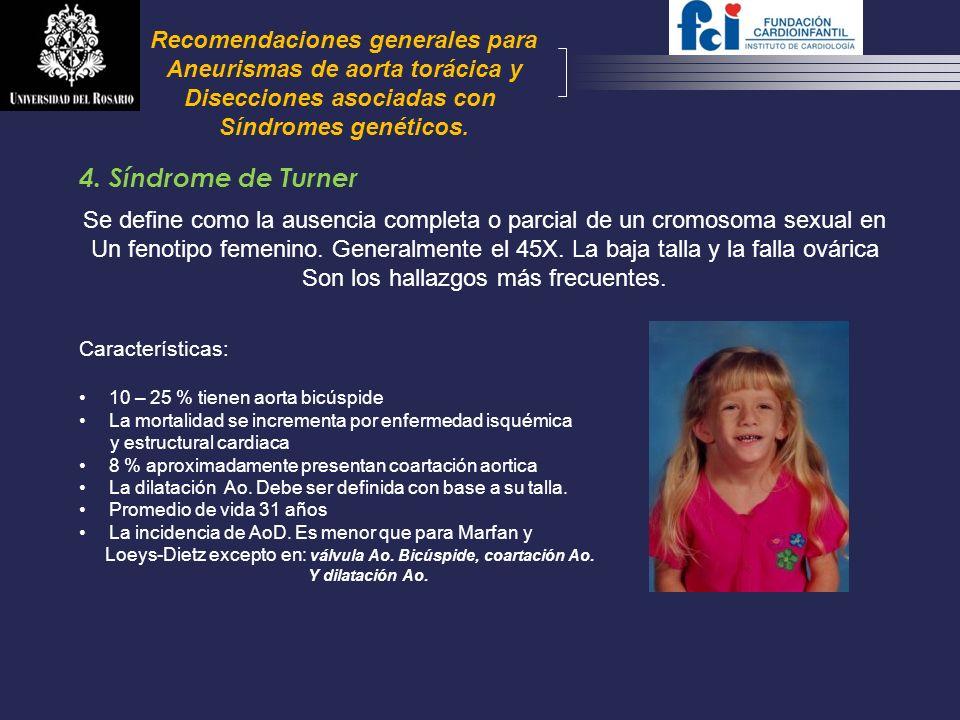 4. Síndrome de Turner Recomendaciones generales para