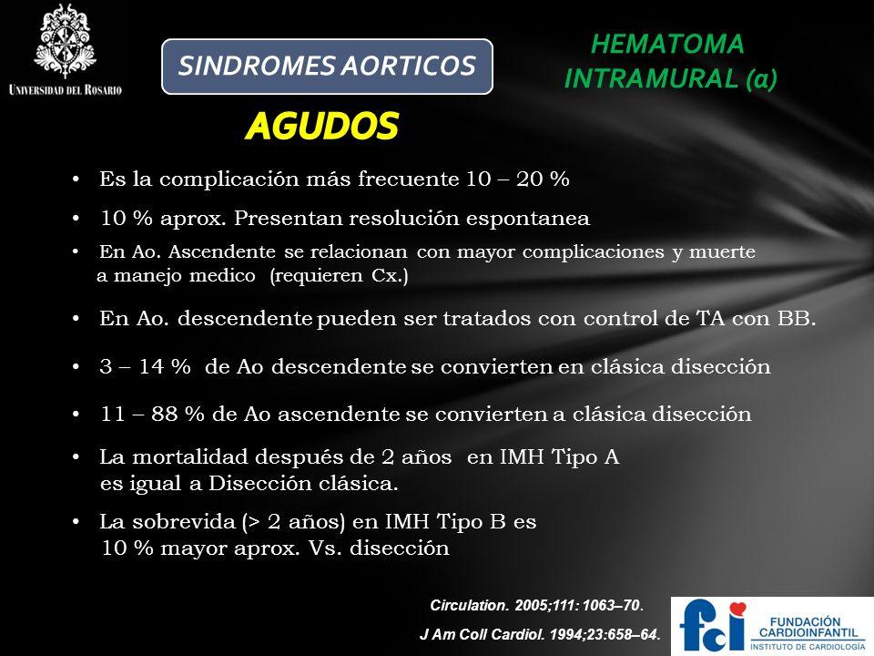 AGUDOS HEMATOMA SINDROMES AORTICOS INTRAMURAL (a)