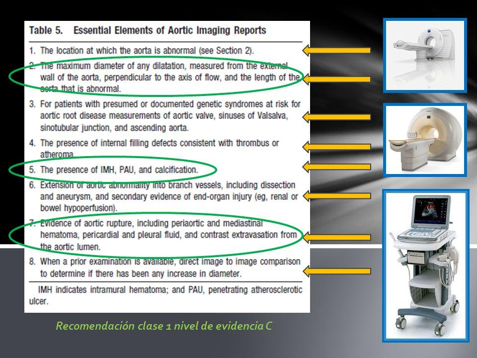 Recomendación clase 1 nivel de evidencia C