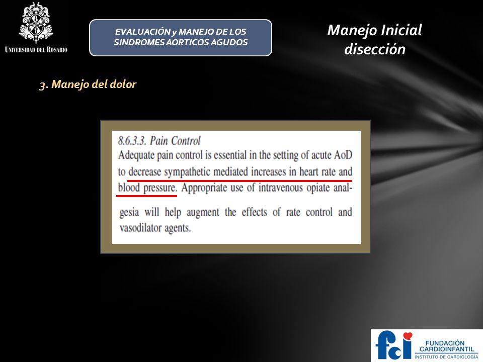 EVALUACIÓN y MANEJO DE LOS SINDROMES AORTICOS AGUDOS