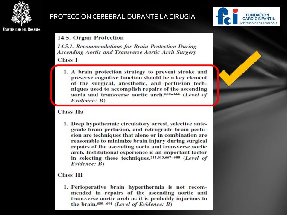 PROTECCION CEREBRAL DURANTE LA CIRUGIA