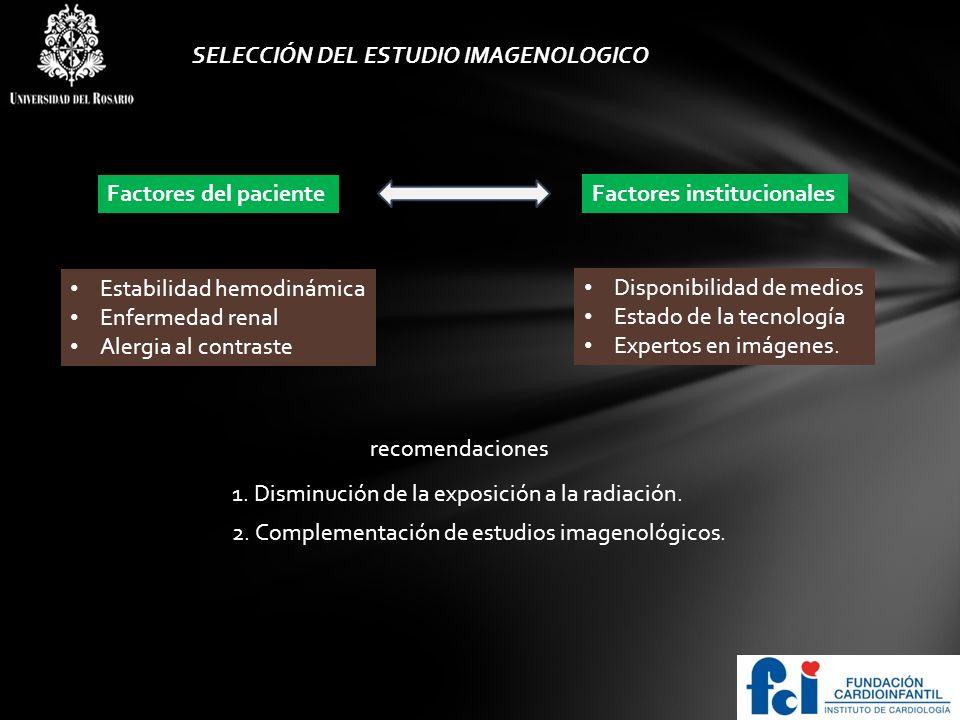 SELECCIÓN DEL ESTUDIO IMAGENOLOGICO