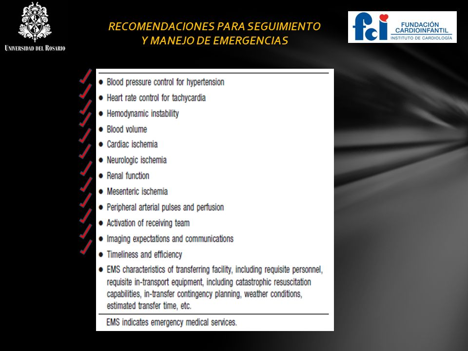 RECOMENDACIONES PARA SEGUIMIENTO Y MANEJO DE EMERGENCIAS