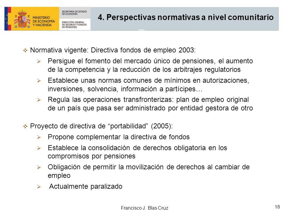 4. Perspectivas normativas a nivel comunitario