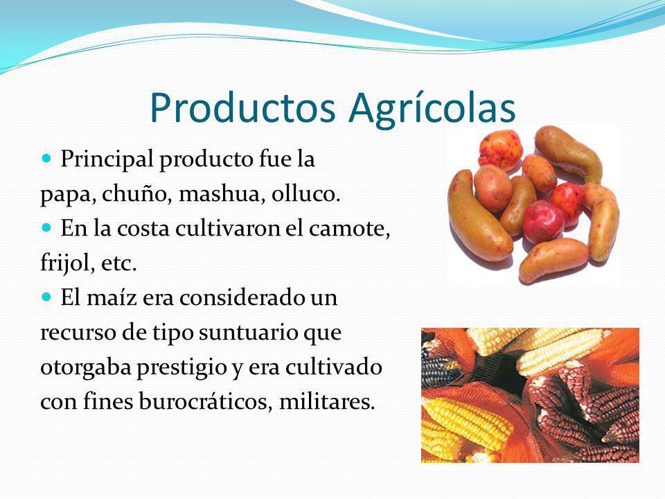 Productos Agrícolas Principal producto fue la