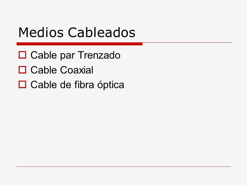 Medios Cableados Cable par Trenzado Cable Coaxial