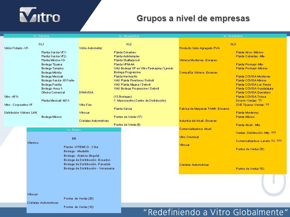 Grupos a nivel de empresas