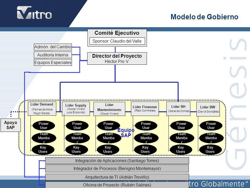 Modelo de Gobierno Comité Ejecutivo Director del Proyecto Equipo SAP