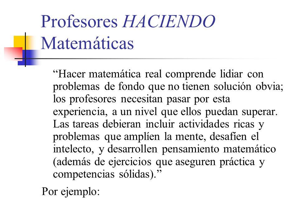 Profesores HACIENDO Matemáticas