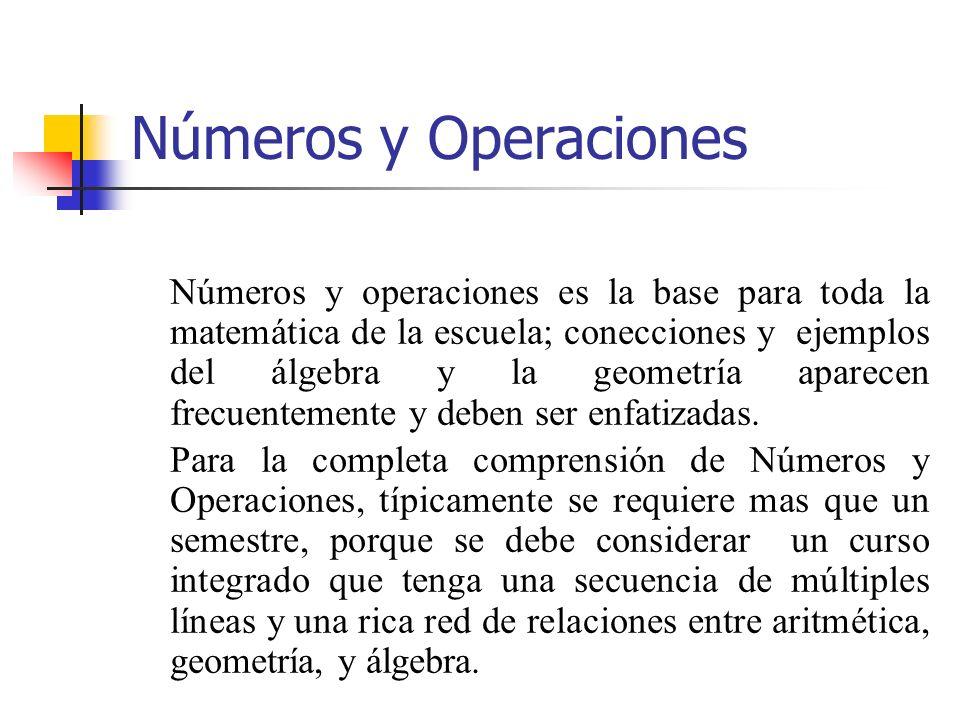 Números y Operaciones