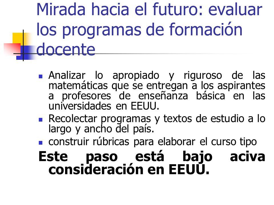 Mirada hacia el futuro: evaluar los programas de formación docente