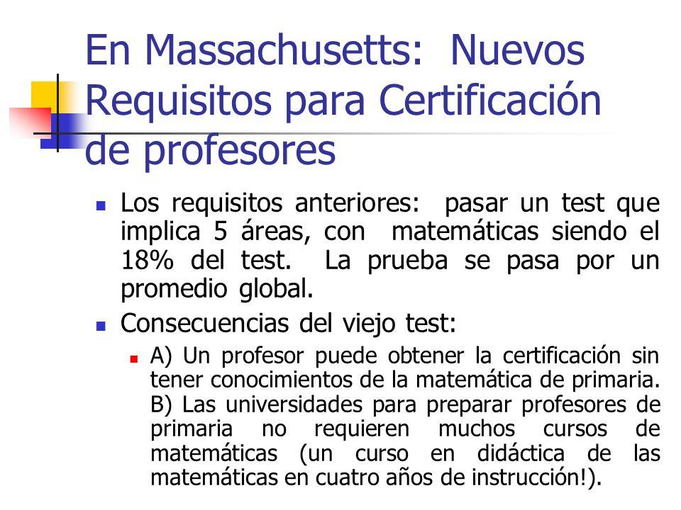 En Massachusetts: Nuevos Requisitos para Certificación de profesores