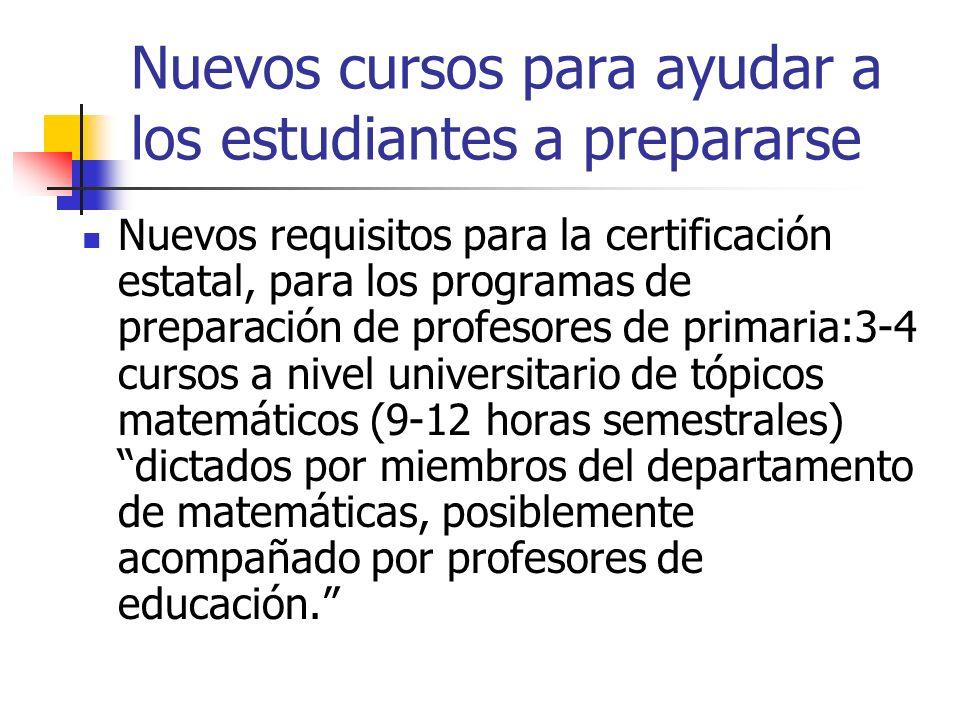 Nuevos cursos para ayudar a los estudiantes a prepararse