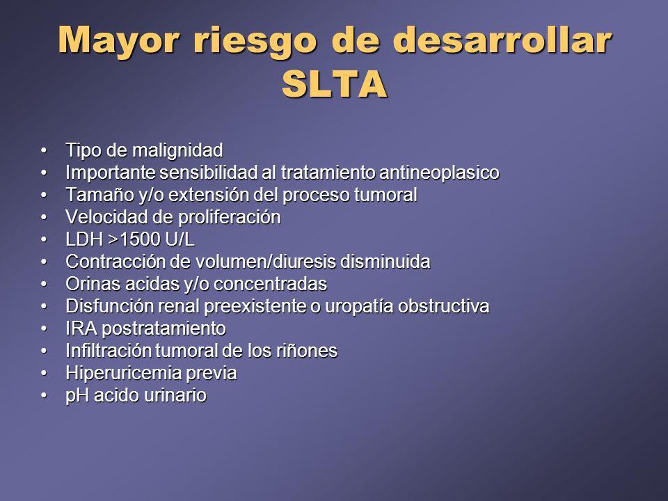 Mayor riesgo de desarrollar SLTA