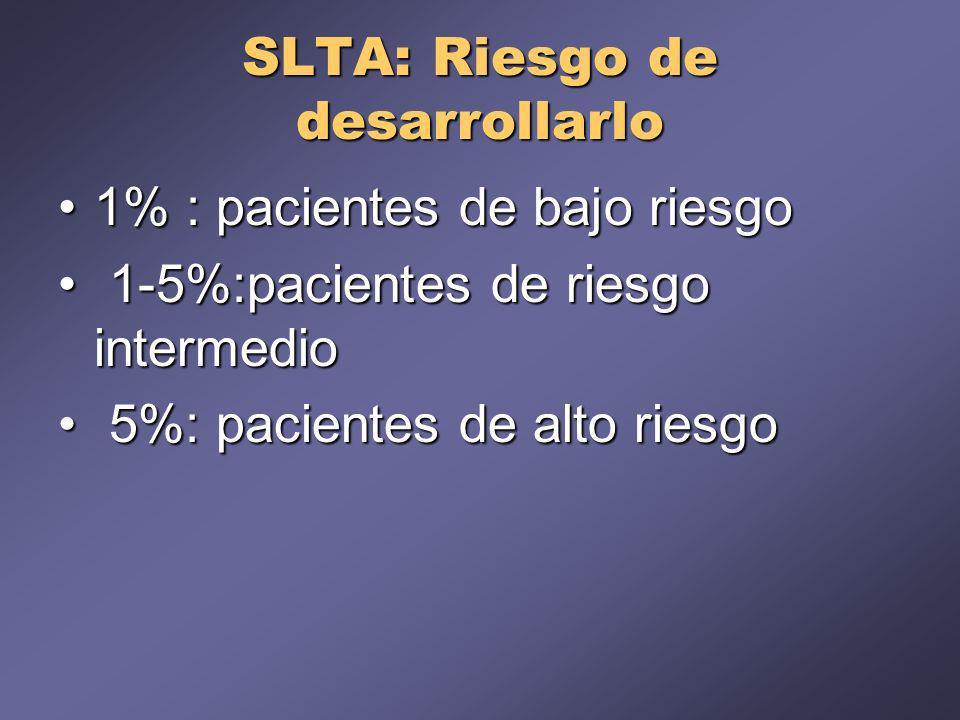 SLTA: Riesgo de desarrollarlo