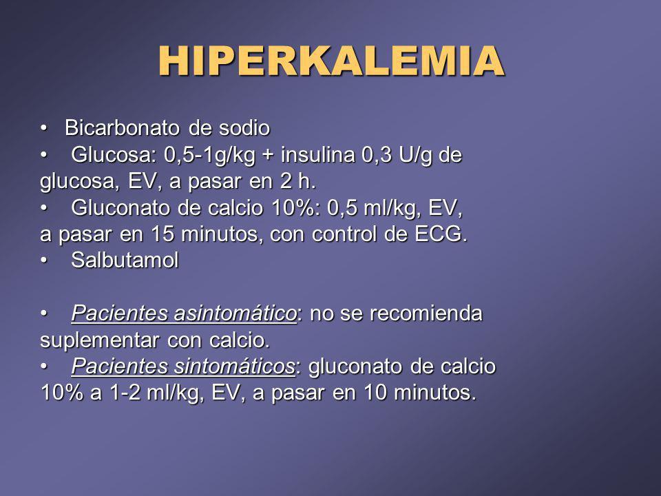 HIPERKALEMIA Bicarbonato de sodio