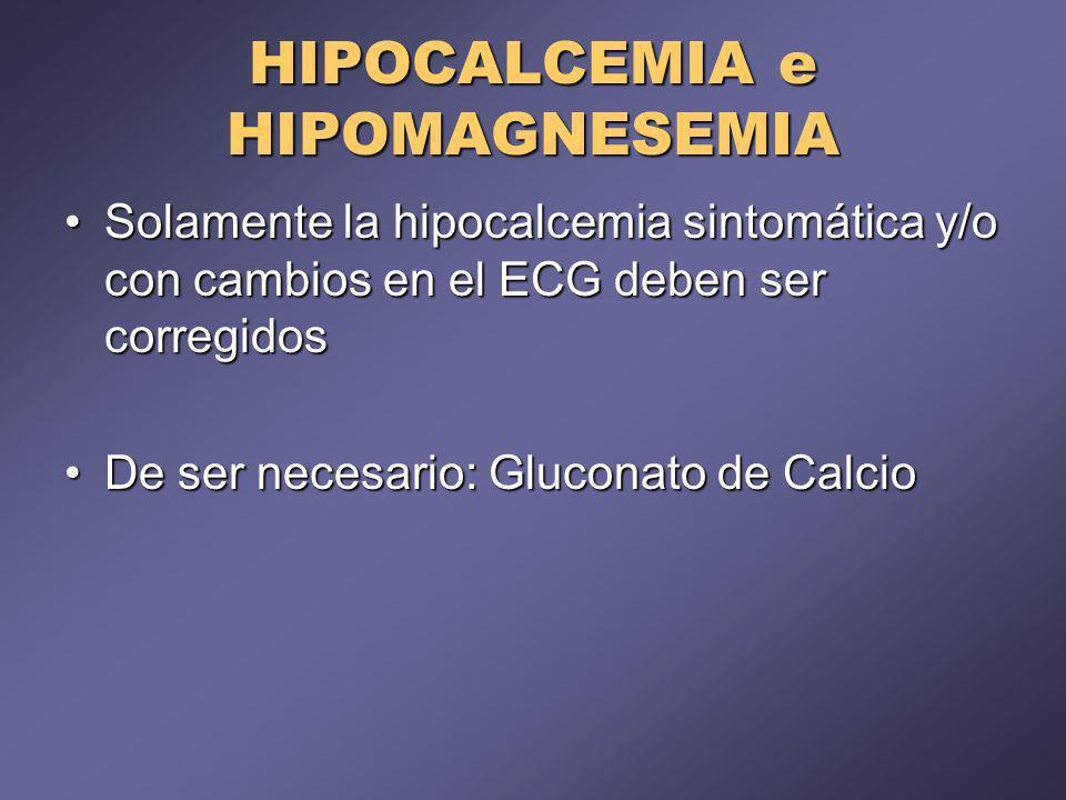 HIPOCALCEMIA e HIPOMAGNESEMIA