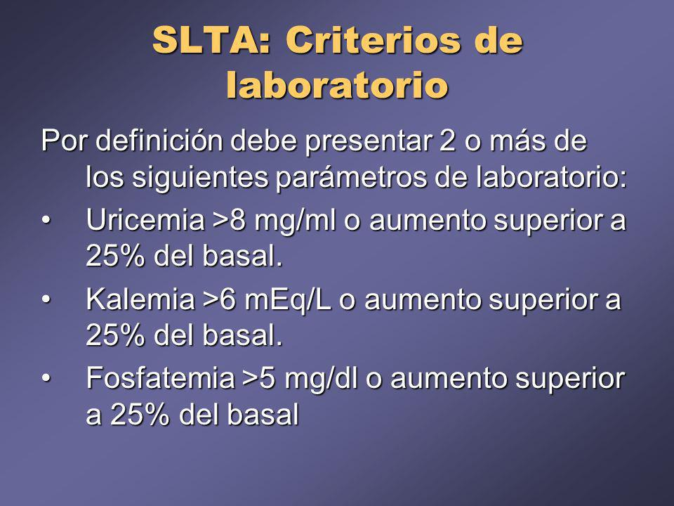 SLTA: Criterios de laboratorio