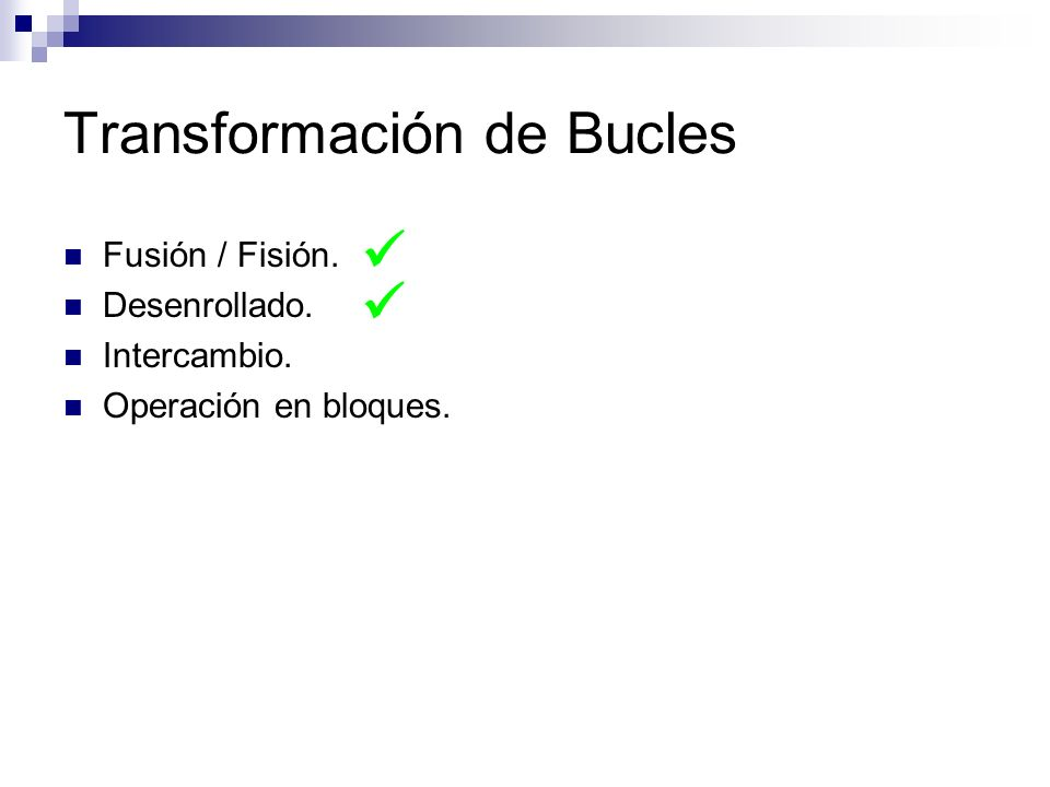 Transformación de Bucles
