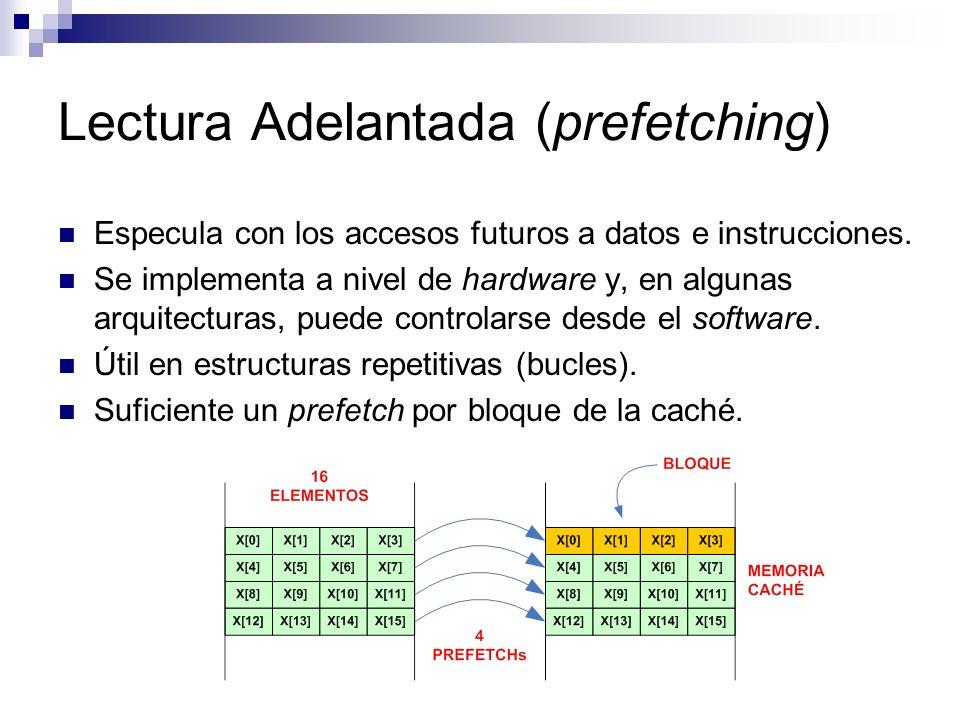 Lectura Adelantada (prefetching)