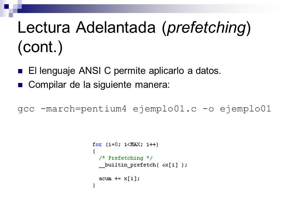 Lectura Adelantada (prefetching) (cont.)