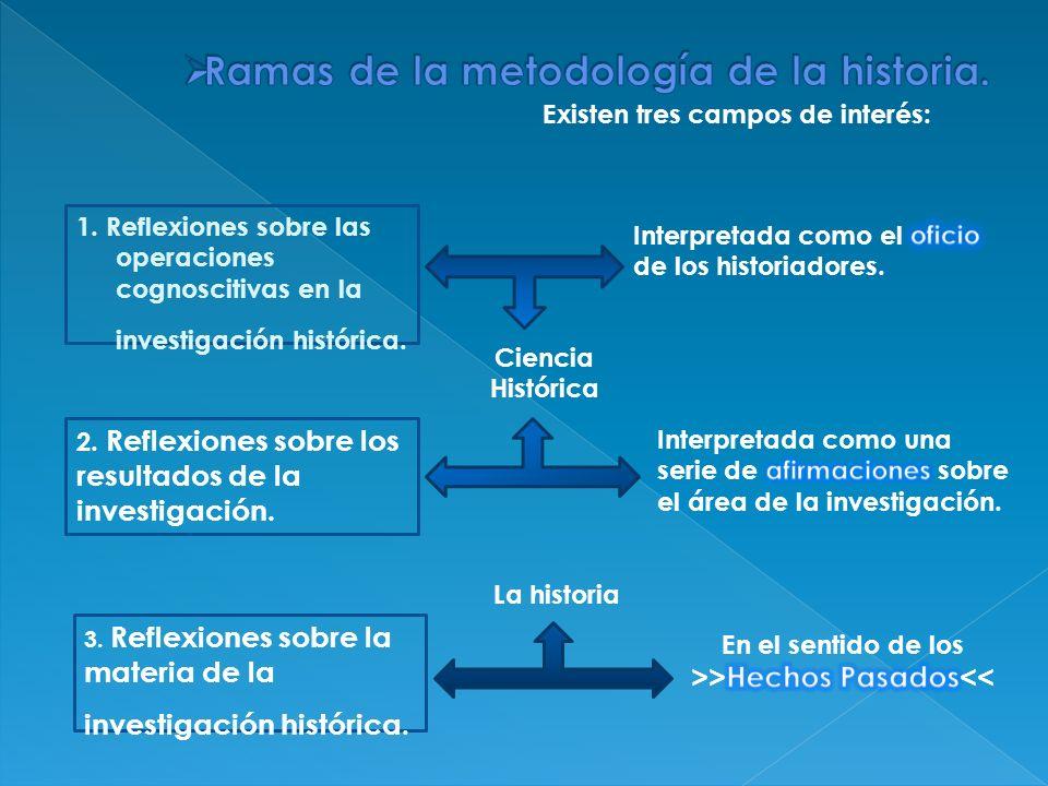 Ramas de la metodología de la historia.