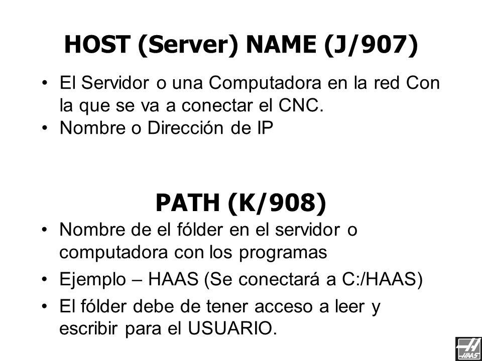 HOST (Server) NAME (J/907)