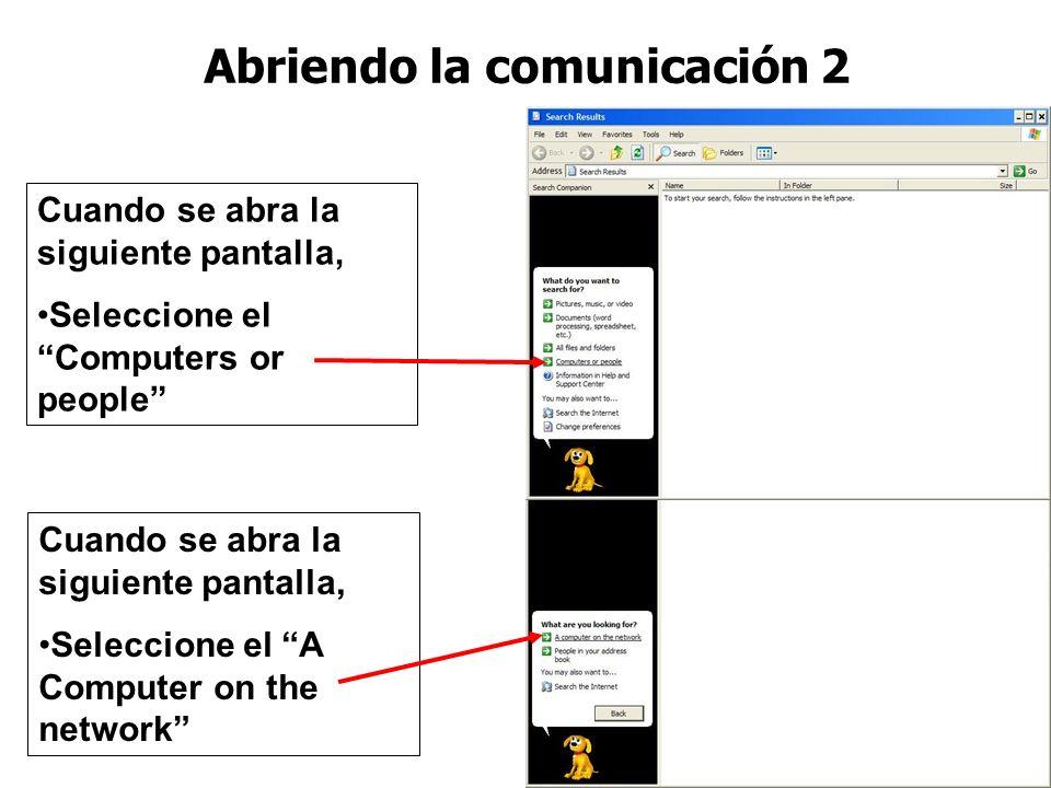 Abriendo la comunicación 2